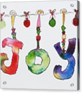 Joy Acrylic Print by Becky Kim
