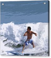 Joy Of Surfing - Two Acrylic Print