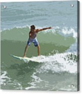 Joy Of Surfing One Acrylic Print