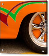 Joy Ride - Street Rod In Orange, Red, And Green Acrylic Print