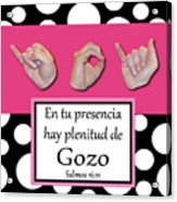 Joy Spanish - Bw Graphic Acrylic Print