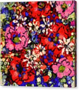 Joyful Flowers Acrylic Print