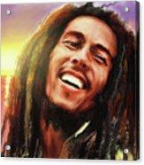 Joyful Marley  Bob Marley Portrait Acrylic Print