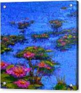 Joyful State - Modern Impressionistic Art - Palette Knife Landscape Painting Acrylic Print