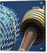 Jp Morgan Building And Sydney Tower Acrylic Print