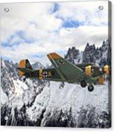 Ju52 - Alpine Passage Acrylic Print