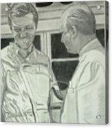 Juan Manuel Fangio And Graf Berghe Von Trips Acrylic Print
