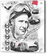 Juan Manuel Fangio Acrylic Print