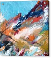 Judean Hill Abstract Acrylic Print