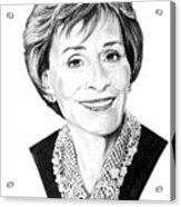 Judge Judith Sheindlin Acrylic Print