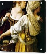 Judith And Her Maidservant 1613 Acrylic Print