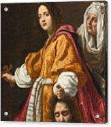 Judith Holding The Head Of Holofernes Acrylic Print
