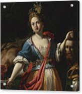 Judith With The Head Of Holofernes 2 Acrylic Print