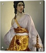 Judith With Thedecapitated Head Of Holofernes  Acrylic Print