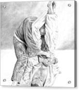 Jiu Jitsu Fundamentals The Armbar Acrylic Print