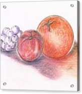 Juicy Fruits Acrylic Print