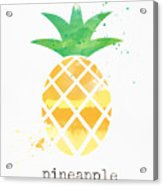 Juicy Pineapple Acrylic Print
