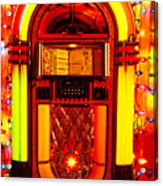 Juke Box With Christmas Lights Acrylic Print
