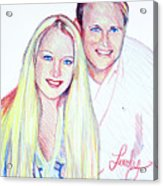 Jules And Tim Acrylic Print