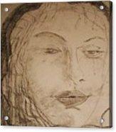Julia Weeps Acrylic Print