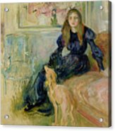 Julie Manet And Her Greyhound Laerte Acrylic Print