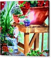 Julie's Deck Acrylic Print