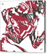 Julio Jones Atlanta Falcons Pixel Art 11 Acrylic Print