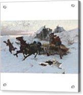 Julius Vesin Bulgarian The Sleigh Ride Acrylic Print