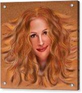 Julorobani - Julia Roberts Portrait Acrylic Print