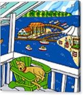 July 4th Snoozer - Cedar Key Acrylic Print