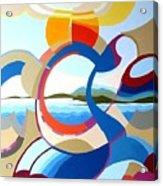 July Acrylic Print by Carola Ann-Margret Forsberg