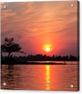 July Sunset At Detroit Point Acrylic Print