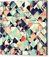 Jumble Of Colors And Texture Acrylic Print