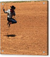 Jump Rope Cowboy Style Acrylic Print