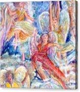 Jumping For Joy Angels Acrylic Print