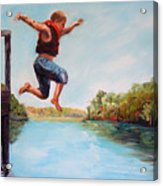 Jumping In The Waccamaw River Acrylic Print