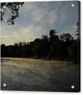 June Mississippi River Misty Dawn Acrylic Print