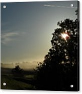 June Morning Fog Acrylic Print