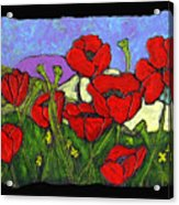 June Poppies Acrylic Print