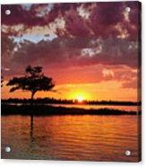 June Sunset At Detroit Point Acrylic Print