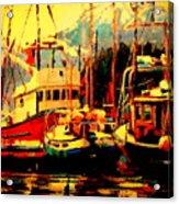 Juneau Boats Acrylic Print