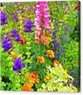 Juneau Has Flowers Acrylic Print