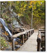 Juney Whank Falls And A Place To Rest Acrylic Print
