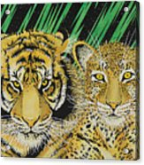 Jungle Cats Acrylic Print
