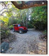 Jungle Jeep Acrylic Print