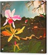 Jungle Orchid Acrylic Print by Alanna Hug-McAnnally