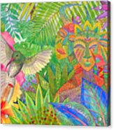 Jungle Spirits And Humming Bird Acrylic Print