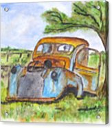 Junk Car And Tree Acrylic Print