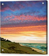 Juno Beach Florida Sunrise Seascape D7 Acrylic Print