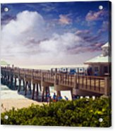 Juno Beach Pier Treasure Coast Florida Seascape Dawn C5a Acrylic Print